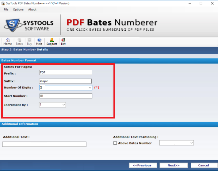 Add Page Numbers To PDF 3.5